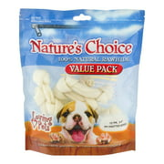 Nature's Choice 100% Natural Rawhide Dog Chews Value Pack, 12 Pack