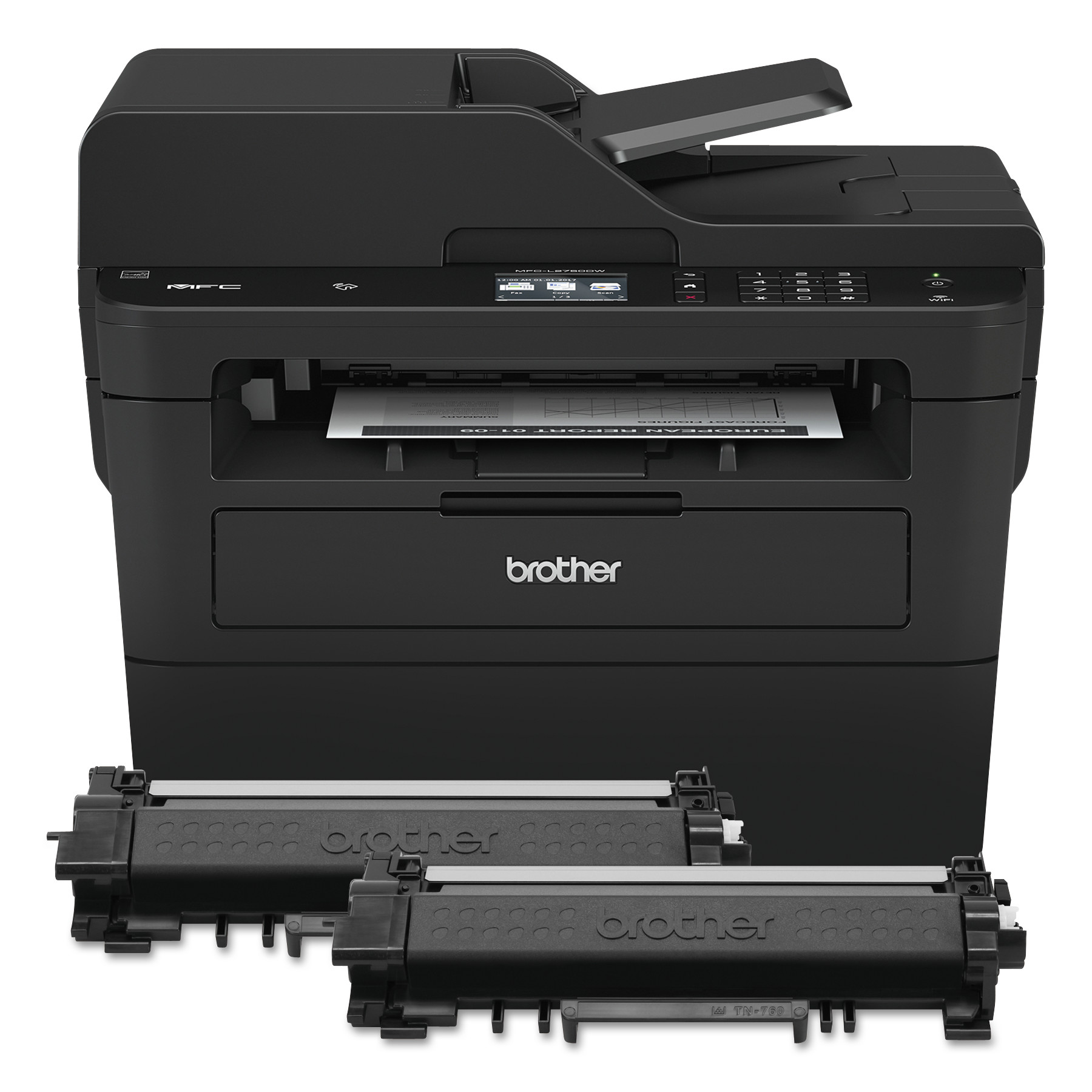 Brother MFC-L2750DWXL Laser Copier, Copy Fax Print Scan by Brother