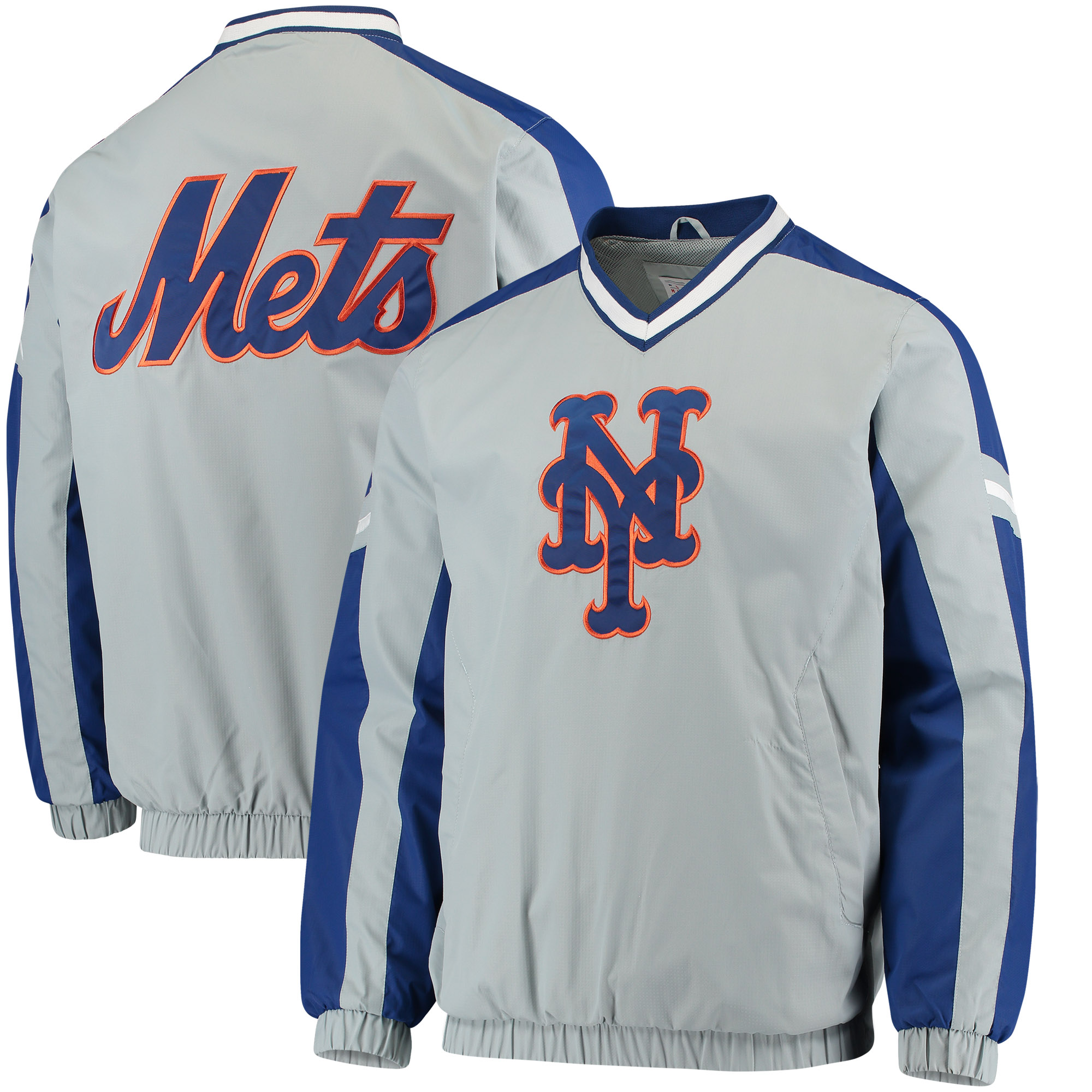 New York Mets G-III Sports by Carl Banks Draft Pick V-Neck Pullover Jacket - Gray