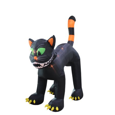 The Holiday Aisle Halloween Inflatable Animated Huge Black Cat - Black Cat Decorations