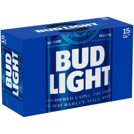 Bud Light 174 Beer 15 Pack 12 Fl Oz Cans Walmart Com