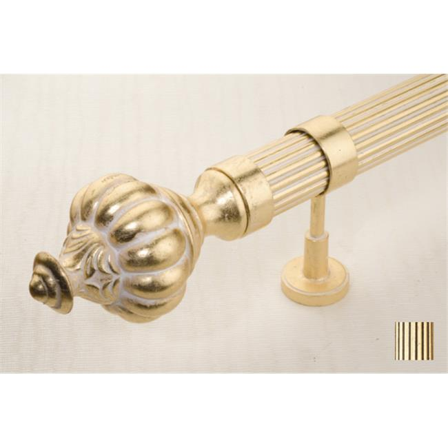 WinarT USA 8. 1099. 45. 06. 160 Palas 1099 Curtain Rod Set - 1. 75 inch - Gold Leaf - 63 inch