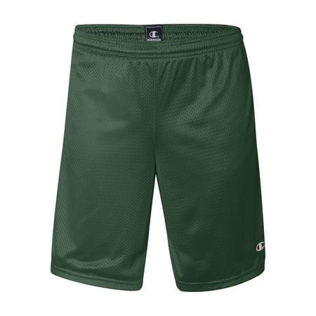 S162 Champion Athletics Mesh Shorts with Pockets Champion Green Mesh Shorts