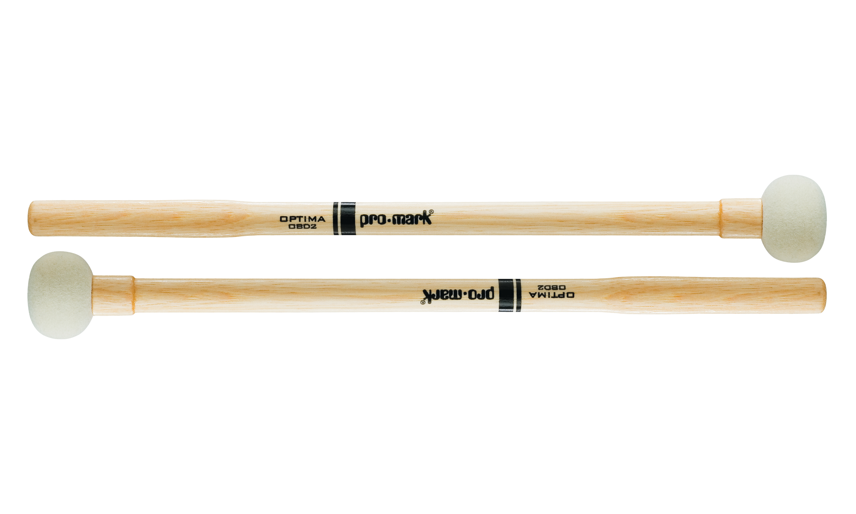 Promark Optima Marching Bass Felt #2 Drum Mallets by ProMark