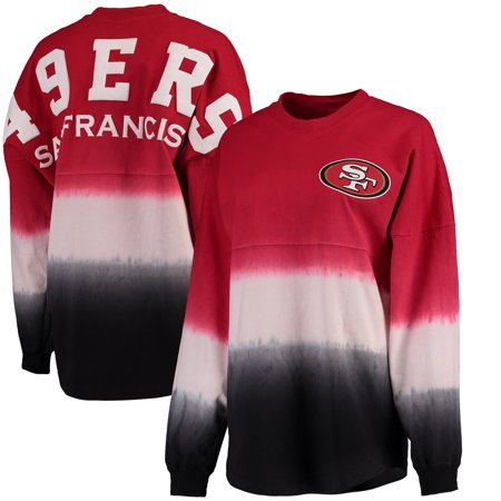 wholesale dealer 9f6a8 3c2c9 San Francisco 49ers NFL Pro Line by Fanatics Branded Women's Spirit Jersey  Long Sleeve T-Shirt - Scarlet/Black
