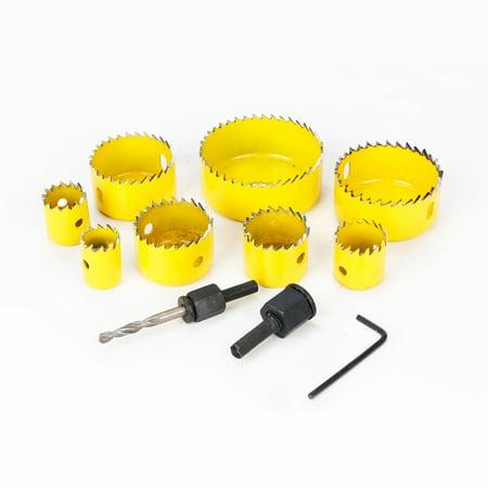 8PCS/13PCS Down Lights Holes Cutters Opener Saw Holesaw Kit Set Drill Bit Hole Saw Power Tool Metal Holes Drilling Kit with Mandrels ()