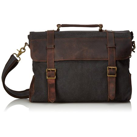 estarer  estarer - estarer canvas leather laptop school messenger bag ...