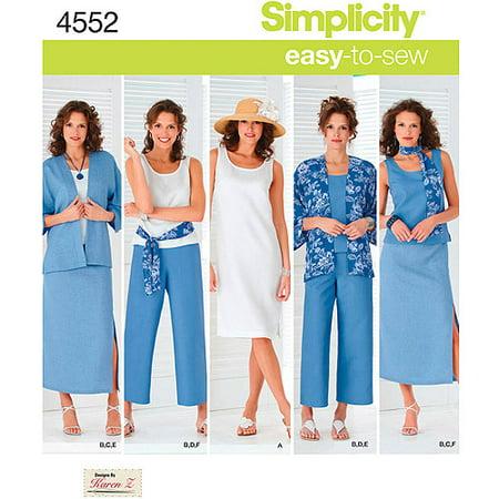 Simplicity Women's Size 20W-28W Dress & Top Pattern, 1 Each - Greek Dress Pattern