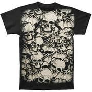 Avenged Sevenfold Men's  A/o White Deathbats T-shirt Black