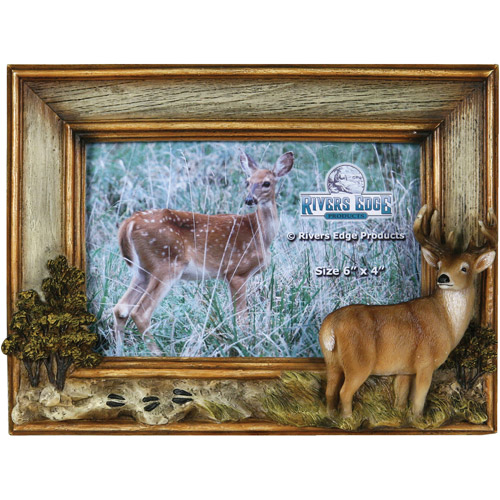 """Rivers Edge Products 4"""" x 6"""" Deer Picture Frame"""