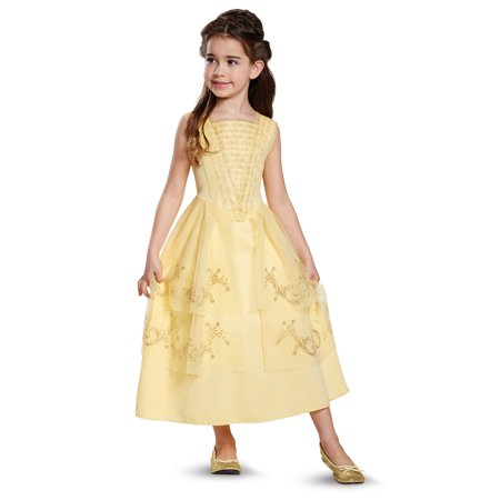 Disney Beauty and the Beast: Belle Ball Gown Classic Child Costume (Plus Size Princess Belle Costume)