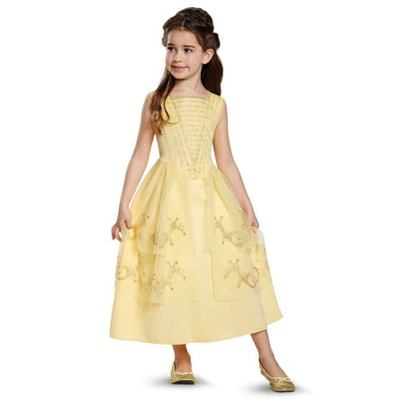 Disney Beauty and the Beast: Belle Ball Gown Classic Child Costume - Pig Tail Costume