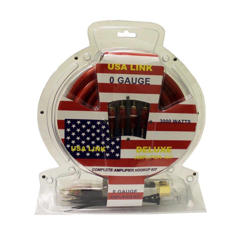 Lanzar 5000 Watt 4 Channel Bridgeable Car Audio Amplifier 0 Gauge Ampkit4 Contaq Wiring Kit Installation Parts