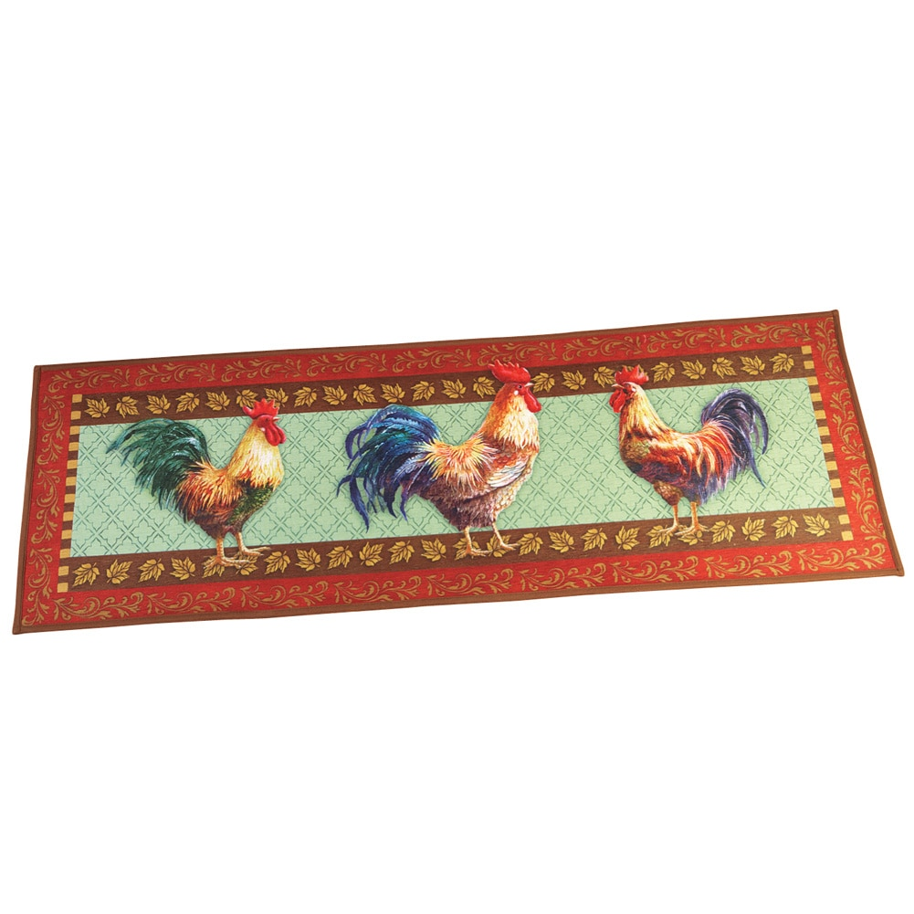 Farmhouse Country Rooster 57 Quot X 19 1 2 Quot Runner Rug With
