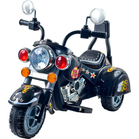 Ride on Toy, 3 Wheel Trike Chopper Motorcycle for Kids by Hey! Play! - Battery Powered Ride on Toys for Boys and Girls, 18 Months - 4 Year Old, Black - Ride On Toys For 4 Year Olds