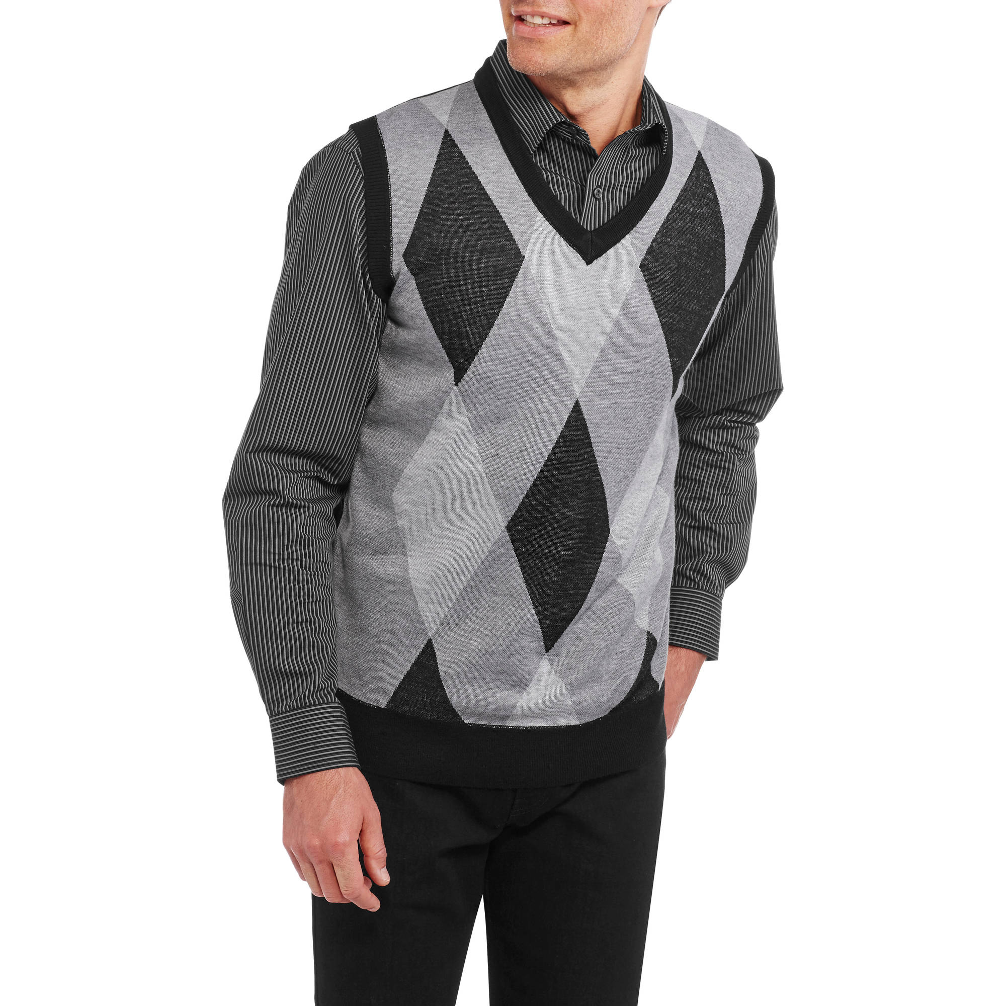 Mens Argyle Jacquard Sweater Vest
