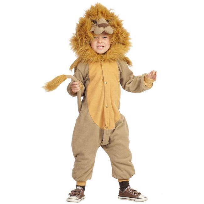NEW Kids Safari Full Body Hooded Medium Lion Costume