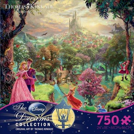 Thomas Kinkade Disney Dreams Sleeping Beauty, 750pc - Disney Puzzle