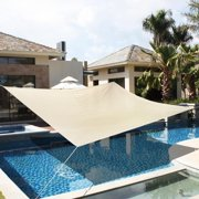Patio Lawn Garden Sun Shade Sails (18' x 18', Beige)