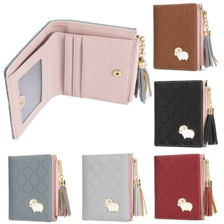 Women Girl Leather Purse Card Holder Wallet Clutch Zip Small Change Coin Key Bag ()