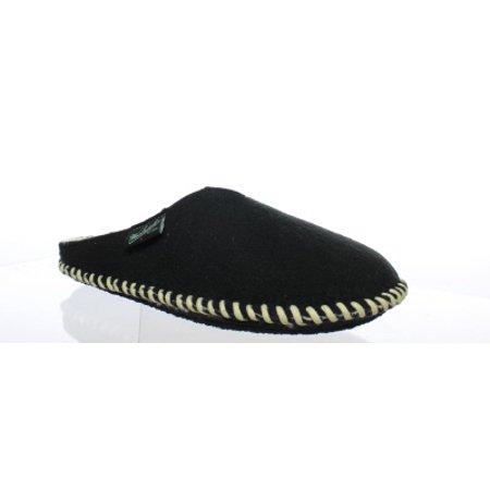 Woolrich Mens Fleece Mill Scuff Black Mule Slippers Size -