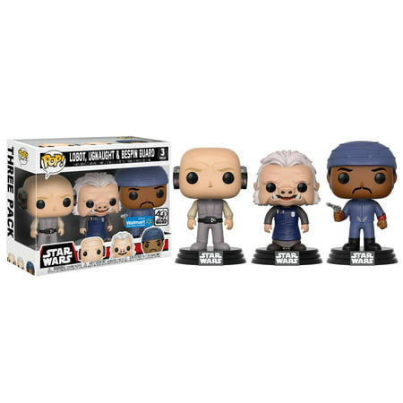 Funko Movies  Pop  Star Wars   Cloud City 3 Pack  Lobot  Ugnaught  Bespin Guard   Walmart Exclusive