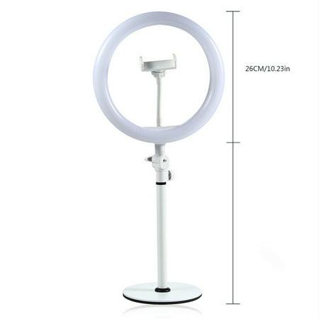 "10 ""LED Ring Light Fill Light Dimmable Lampe Studio Photo Téléphone Vidéo Live Photographie Selfie Light avec câble USB - image 6 of 7"