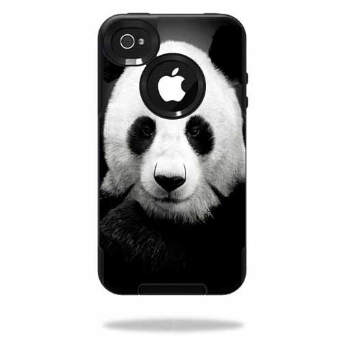 Mightyskins Protective Vinyl Skin Decal Cover for OtterBox Commuter iPhone 4 Case Cell Phone wrap sticker skins Panda