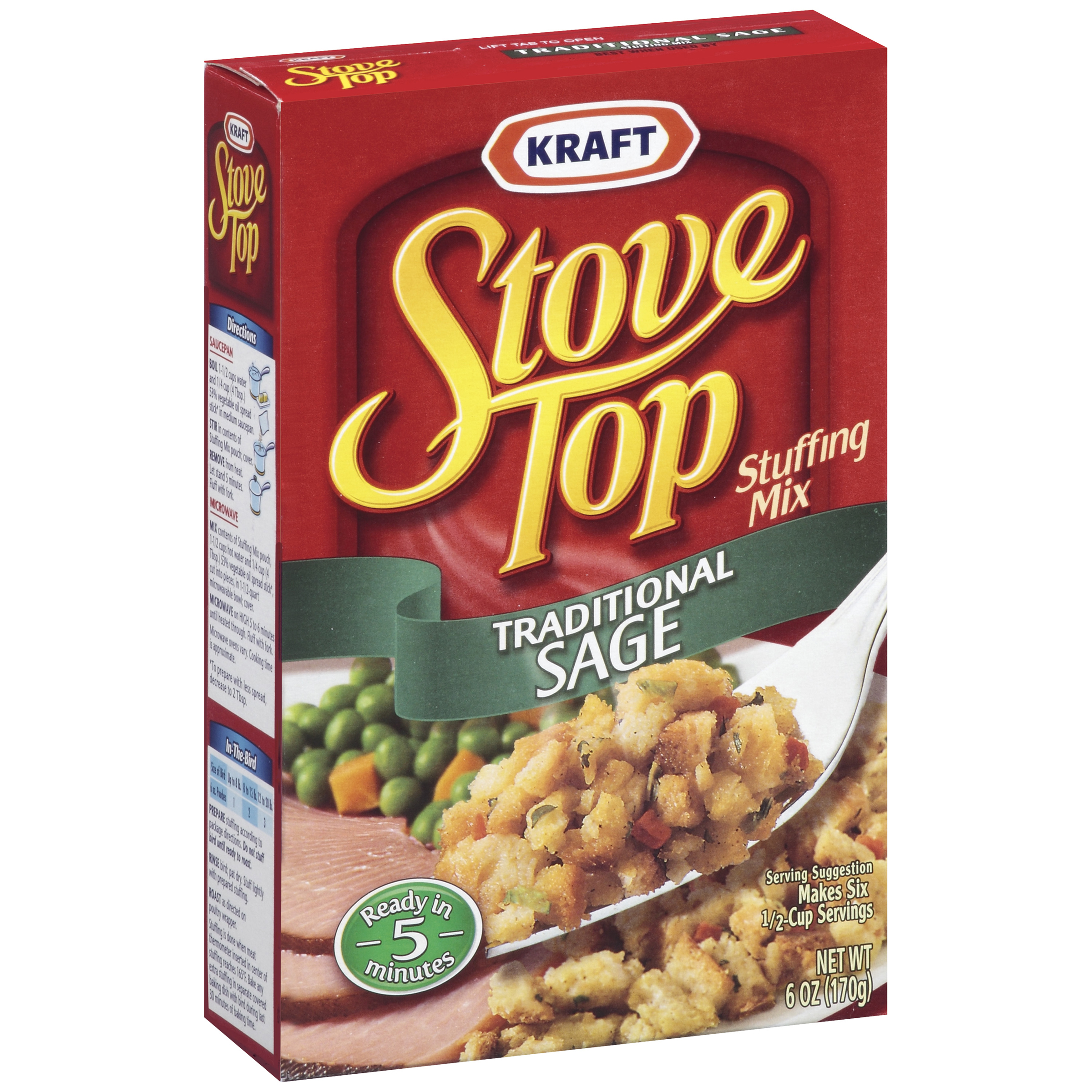 Stove Top Traditional Sage Stuffing Mix, 6 oz