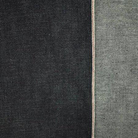 Deep Ink Navy Cotton Japanese Selvedge Denim Fabric By