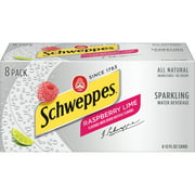 Schweppes Sparkling All Natural Raspberry Lime Water, 12 Fl. Oz., 8 Count