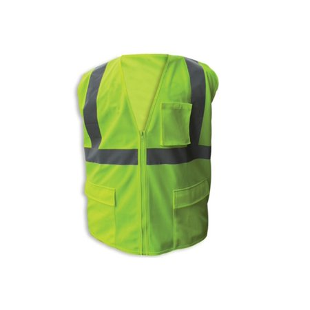- Enguard LIME Poly Mesh FR Reflective Safety Vest, Class 2 - 2XL