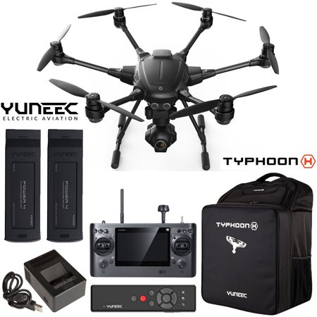 Yuneec Typhoon H RTF Hexacopter Drone with CGO3+ UHD 4K Camera Pro Bundle + Wizard Wand, Spare Battery and Custom Backpack