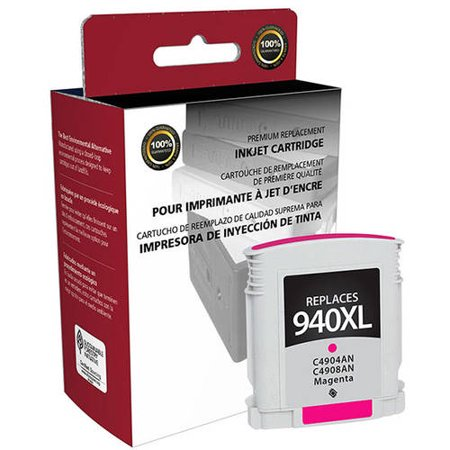 CIG Remanufactured High Yield Magenta Ink Cartridge (Alternative for HP C4904AN, C4908AN 940XL) (1,400 Yield)