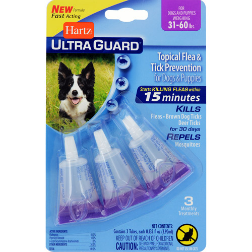 Hartz UltraGuard Flea and Tick Drops for Dogs from 31 to 60lbs