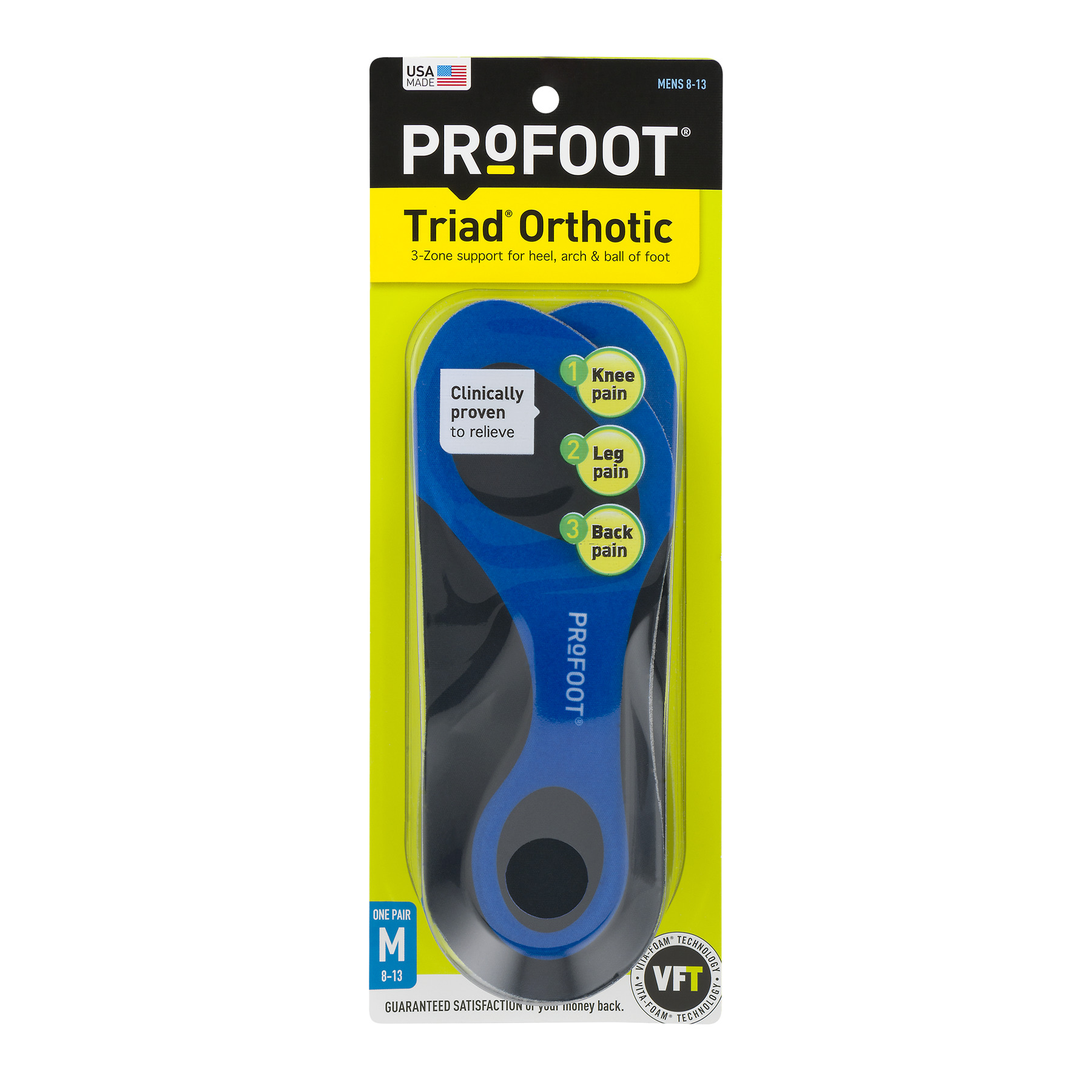 Profoot Triad Orthotic Mens 8-13, 1.0 CT