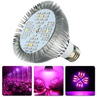 PATHONOR LED Grow Light Bulb 48W Full Spectrum Grow Bulbs Plant Light Bulbs for Indoor Garden Greenhouse and Hydroponic Plants E27