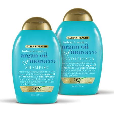 OGX Hydrate + Repair Extra Strength Argan Oil of Morrocco Shampoo & Conditioner Set 13oz, 2