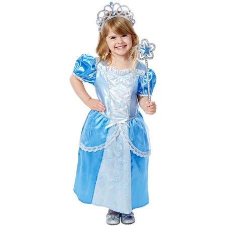 Royal Family Costumes (Melissa & Doug Royal Princess Role Play Costume Set (3 pcs) - Blue Gown, Tiara,)