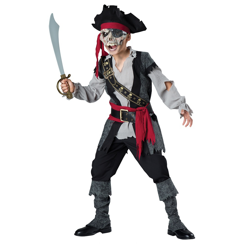 Zombie Pirate Child Costume - Large