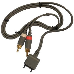 RCA Video Out Cable, Standard Port to RCA Mini-Stereo Cable Music AV Cord for Sony Ericsson K750,Sony Ericsson W580,Sony Ericsson W600i, Sony Ericsson W800i - Black -  POTOGOLD