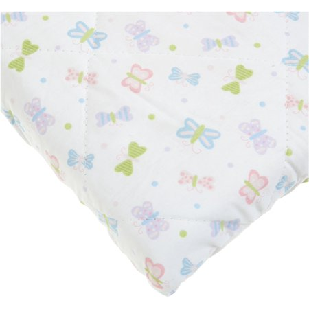 Carters Quilted Woven Playard Fitted Sheet Butterfly