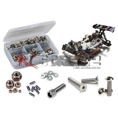 RC Screwz Stainless Steel Screw Kit for Xray XB8 (2015) 1/8 Buggy #xra064