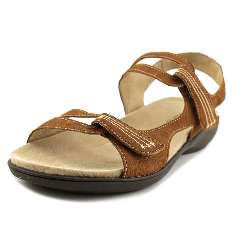 Trotters Katarina Women Open-Toe Leather Tan Sport Sandal by Trotters