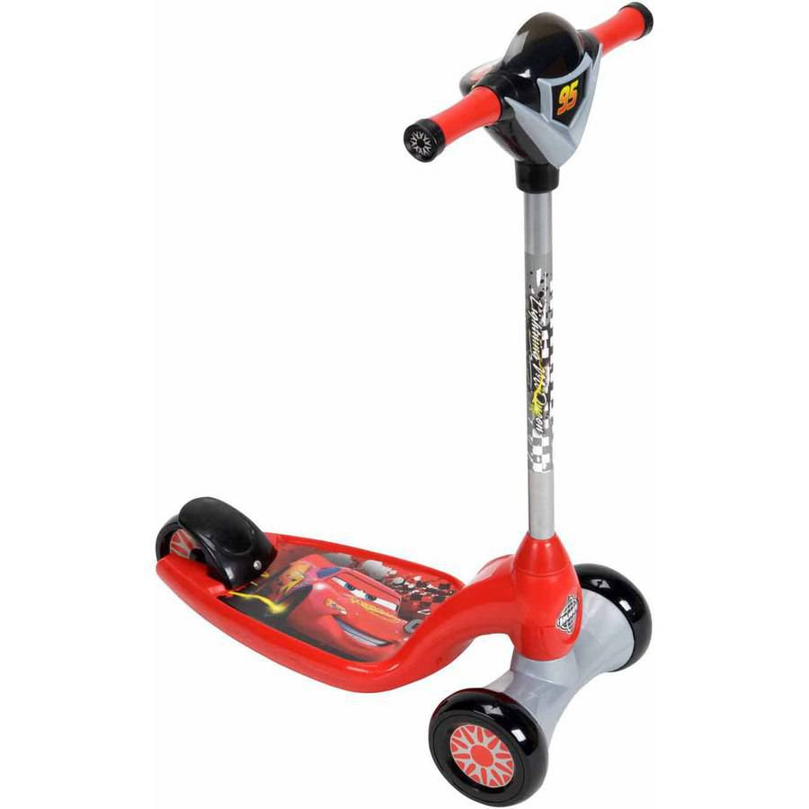 Huffy Boys' Disney/Pixar Cars Lights and Sounds Preschool Scooter