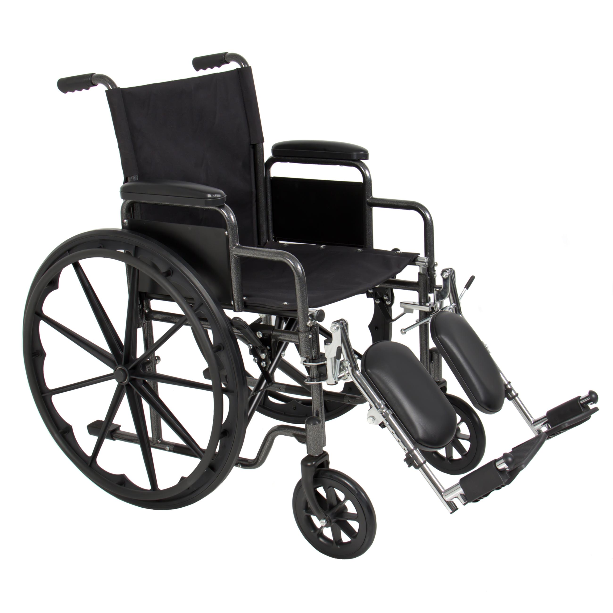 Folding Wheelchair Full Armrests & Elevating Legrests Light Weight