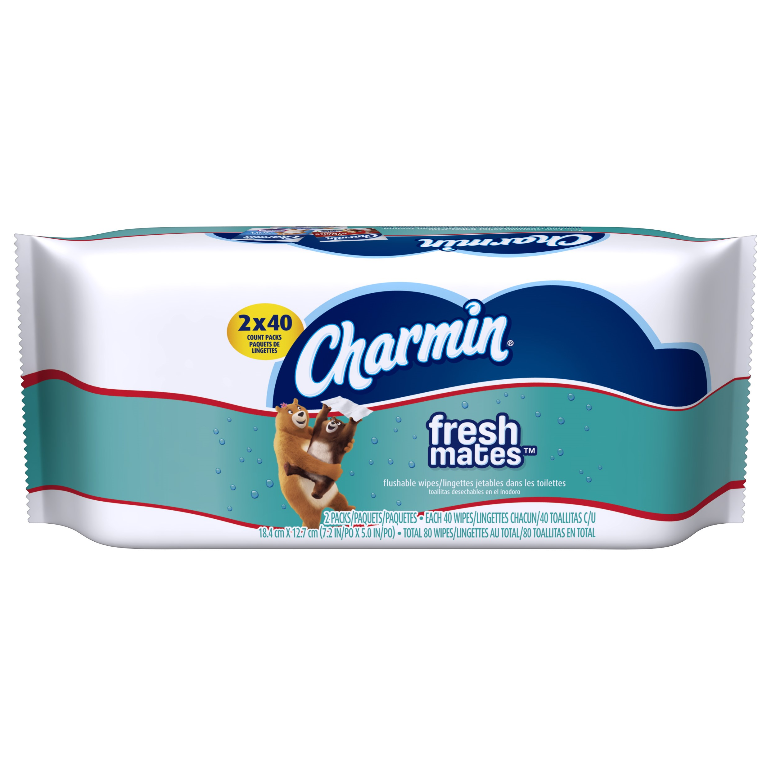 Charmin Freshmates Flushable Wipes, 80 Ct
