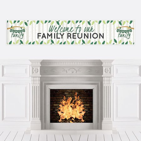 Family Tree Reunion - Family Gathering Party Decorations Party Banner  - Palm Tree Decorations For Party