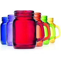 Palais Mason Jar Shot Glasses Holds 4.5 Oz Set of 6 (Full Colored) by Palais Glassware