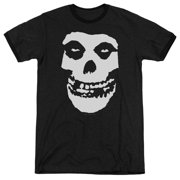 Misfits Fiend Skull Mens Adult Heather Ringer Shirt